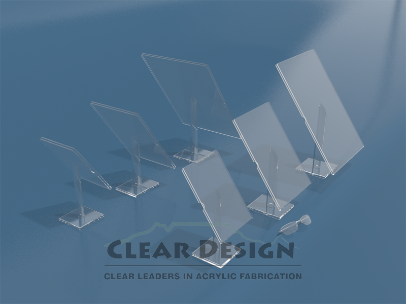 Deluxe Raised Frame Attached to 10mm Clear Plexiglas Base with Acrylic Tube
