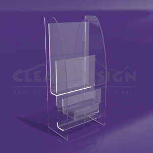 2-Tier Till point leaflet holder - CDBH012