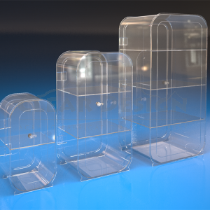 Curved Counter Standing Display Case