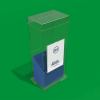 Floor standing Collection box with Poster sleeve