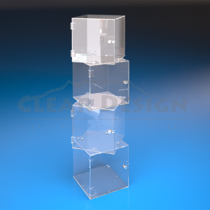 Magnetic Cube Display Case