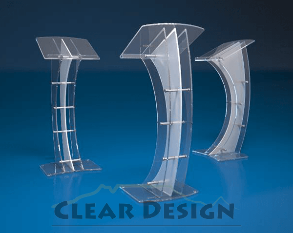 Modern Podium With Vertical Curved Panels