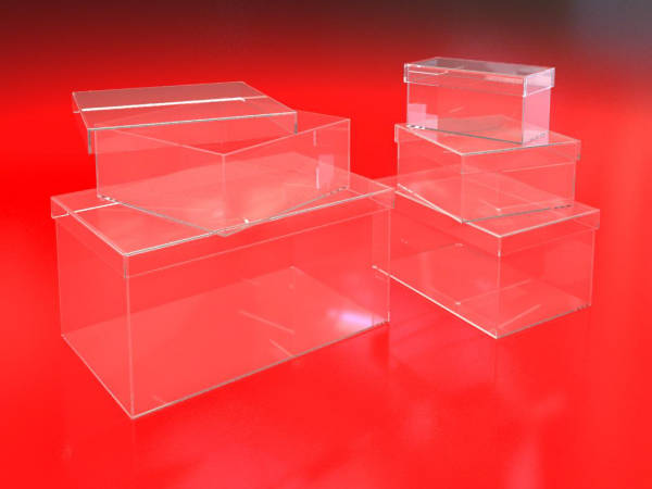 Single Acrylic Compartment Bins
