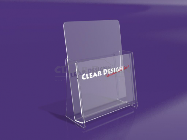 Single Compartment Portrait Brochure holder - CDBH01