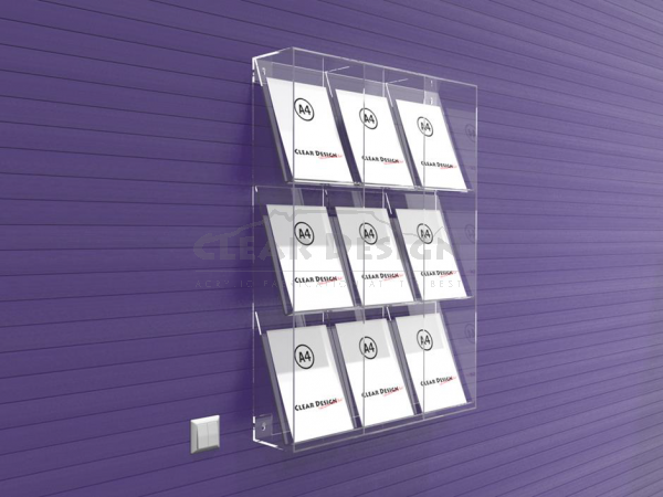 Wall Fixing 9 Pocket Display frame - CDBH025P