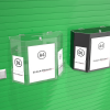 Wall Fixing Entry & Collection Box with Dl leaflet pockets
